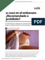 El sexo en el embarazo_ ¿Recomendado o prohibido_ - MDZ Online