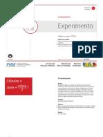 Cilindro=Cone+Esfera2 o Experimento