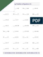 (1) Blanks Algebra