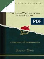 The Lesser Writings of Von Boenninghausen 1000055197
