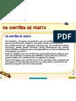 09 - Os Cartões de Visita