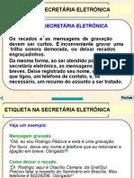 11 - Etiqueta na Secretária Eletrônica