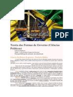 Curso de Direito # a Teoria Das Formas de Governo - Norberto Bobbio