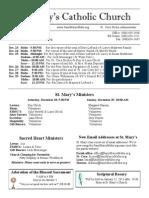 Bulletin for December 22, 2013