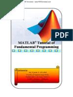 MATLAB Tutorial Fundamental Programming