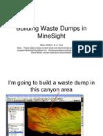 Building Waste Dumps in MineSight