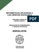 Programacion Exedra Matematicas Aplicadas a Las Ciencias Sociales 2 BACH Andalucia