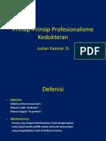 Prinsip-Prinsip Profesionalisme Kedokteran