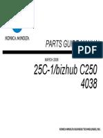 Manual de Partes Bizhub C250