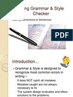 Using GrammarStyle Checker