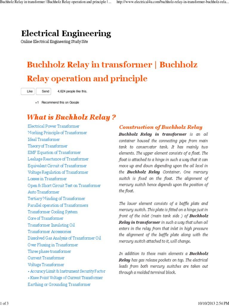 Enjoyable Buchholz Relay In Transformer Buchholz Relay Operation And Wiring Digital Resources Honesemecshebarightsorg