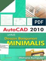 Autocad 2010 Untuk Desain Bangunan Minimalis