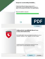 G Data Internet Security installatieprocedure
