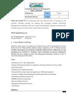 Course Outline for MIS 2013 - V1