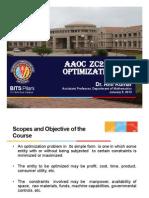 Notes on optimization
