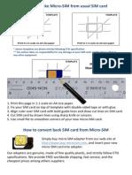 How to Make MicroSIM