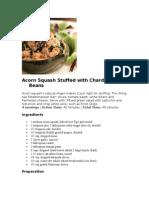 Acorn Squash Stuffed With Chard