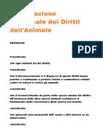 Dichiarazione Universale Dei Diritti Degli Animali