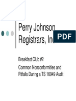 Common TS16949 Audit Findings - Perry Johnson