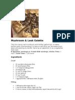 Mushroom & Leek Galette