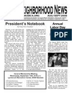 EBCA Aug/Sept 2009 Newsletter
