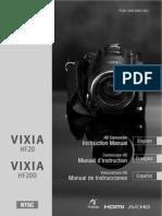 Vixia Hf20 Hf200 Im n En