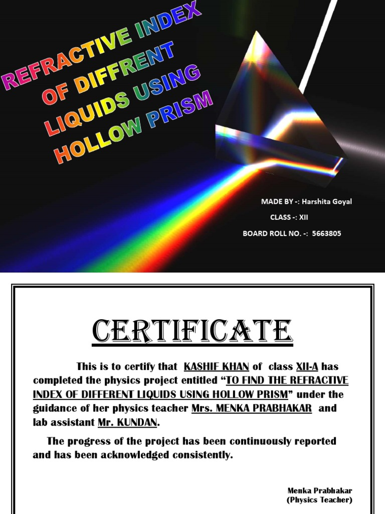 Refractive index of different liquids using hollow prism prism refractive index of different liquids using hollow prism prism refractive index yelopaper Choice Image