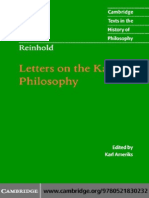 Letters on the Kantian Philosophy (Cambridge Texts in the History of Philosophy) - Karl Leonhard Reinhold