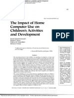 Impact of Home Computer Use on Children's Activities and Development -Kaveri Subrahmanyam and All