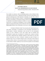 Dialogos Intelectuais, Modernidade e Paulistanidade