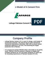 Lafarge Cement Value Chain