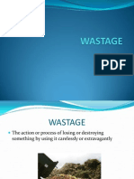 WASTAGE Operations & Production Management