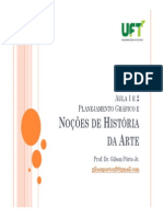 Aula 1 e 2 - noções de história da arte