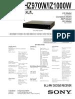 Sony HBD-HZ970W_IZ1000W Ver. 1.0 2010.06 Blu-Ray Disc Player Sm