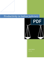 Productivity in Indian Judiciary