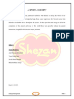 Final Shezan Strategic Analysis Planning