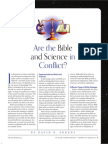 Are the Bible and Science in Conflict