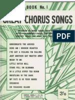 Great Chorus Songs Book 1 -1939