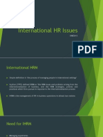 International HR Issues