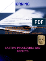 Casting Procedures & Defects Pallavi