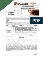 Examen Parcial de IO1 2013-3