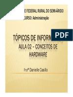 Aula 02 - Tópicos - Conceitos de Hardware