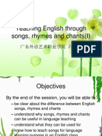 Teaching English through songs, rhymes and chants(I).ppt