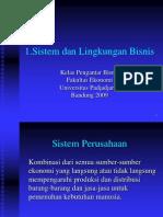 1.Sistem Dan Lingkungan Bisnis