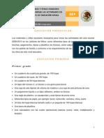 Lista Oficil de útiles escolares emitidos por la SEP. Primaria y Secundaria. Ciclo escolar 2009-2010