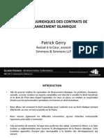 Les Aspects Juridiques Des Contrats de Financement Islamique - Par Patrick Gerry - iCompetences IFConference