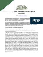 Grand Meeting Regarding the Collapse of Khilafah