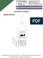 Sound Level Analyzer Manual