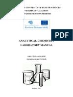 Analytical Chemistry Laboratory Manual