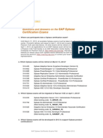 FAQ SAP Sybase Certification v1.0